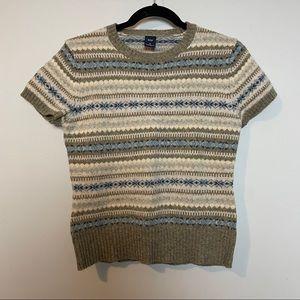 Gap 100% Lambswool Pullover Nordic Design Sweater